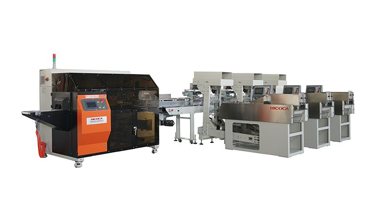 Three-dimensional three-dimensional bag intelligent packaging line