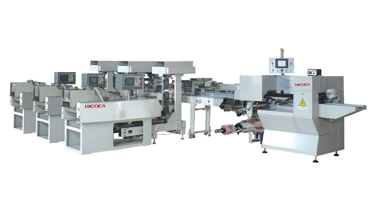 Full-automatic packaging machine with 3 scale